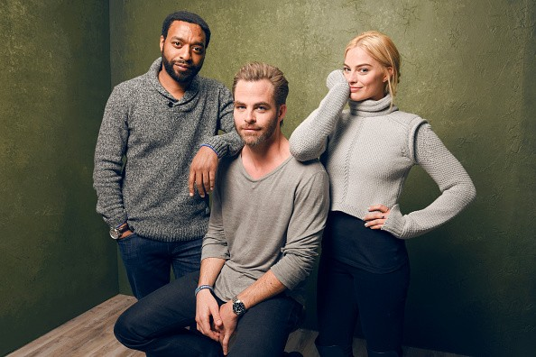 PARK CITY, UT - JANUARY 24: (L-R) Actors Chiwetel Ejiofor, Chris Pine and Margot Robbie from 'Z for Zachariah' pose for a portrait at the Village at the Lift Presented by McDonald's McCafe during the 2015 Sundance Film Festival on January 24, 2015 in Park City, Utah. (Photo by Larry Busacca/Getty Images)