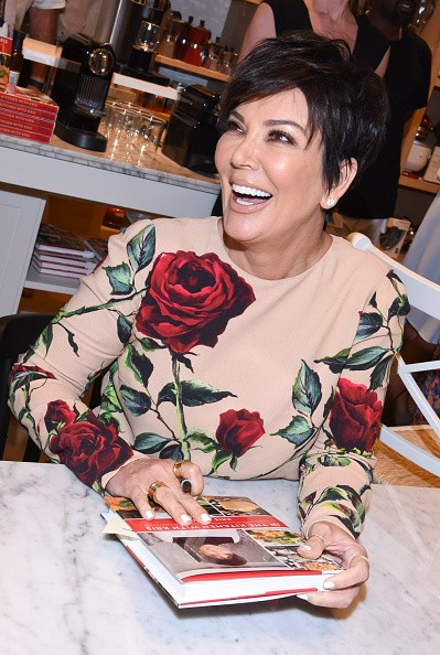 CALABASAS, CA - AUGUST 29: Kris Jenner signs copies of her book at Williams-Sonoma and Kris Jenner Get Cooking at Grand Opening of store at The Commons at Calabasas on August 29, 2015 in Calabasas, California. (Photo by Vivien Killilea/Getty Images for Caruso Affiliated)