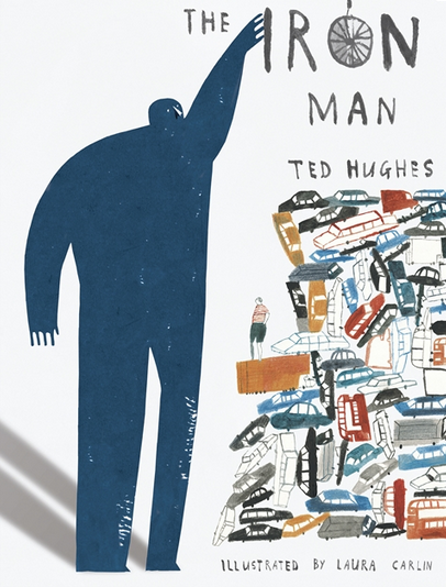 The Iron Man by Ted Hughes book cover