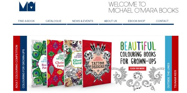 A screenshot of Michael O'Mara Books website