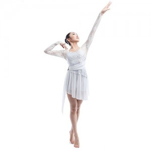 Contemporary White Dance Costumes