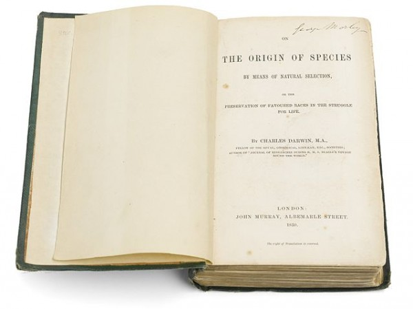 A Copy of Charles Darwin's 'On the Origin of Species'