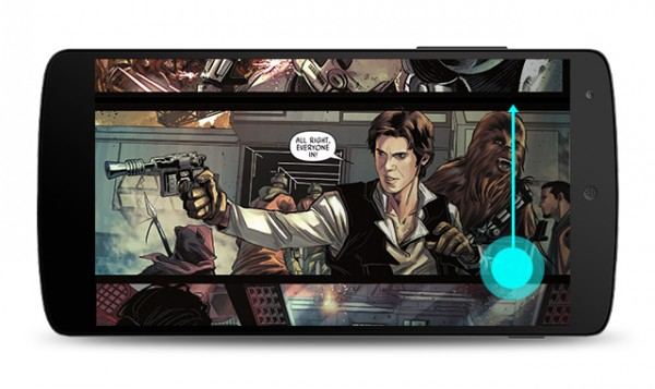 New vertical scrolling experience for comics