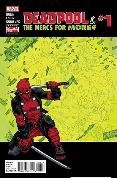 """""""Deadpool and the Mercs For Money"""" #1 cover by Declan Shalvey"""